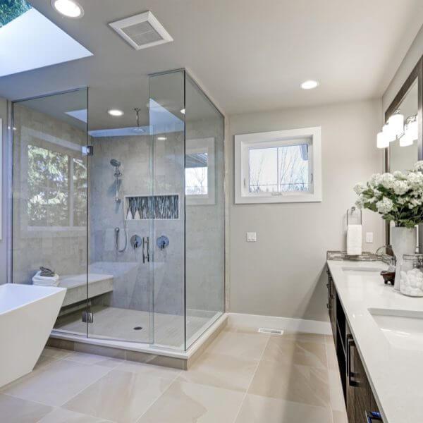 A fully finished bathroom renovation in Baulkham Hills